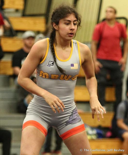 62 kg: Mallory Velte (Titan Mercury) vs. Brenda Reyna (Bearcat WC). 180519BJF0154