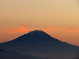 Nevado del Tolima visto desde la parte alta del cañón del Río Anaime