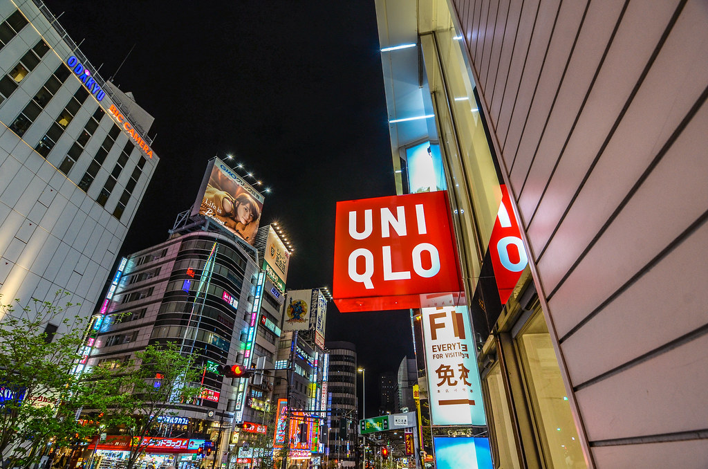 Uniqlo Shinjuku night