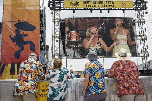 Darcy Malone and the Tangle during Jazz Fest day 5 on May 4, 2018. Photo by Ryan Hodgson-Rigsbee RHRphoto.com