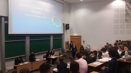 Speaking to students at the European Youth Parliament conference - University of Warwick | by Daniel Dalton MEP