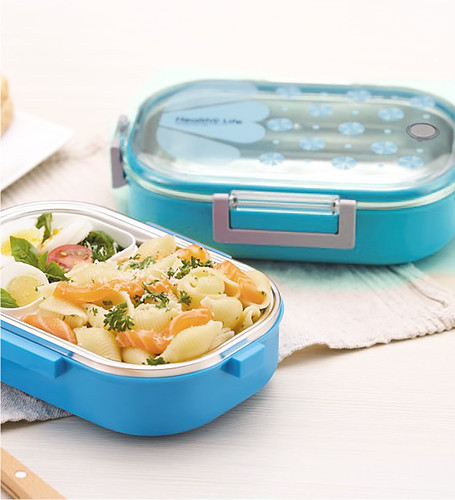 TeDeMeI - Homio Healthy Life  Blue 980 ml Lunch Box with Inner Spoon_0_LH | by ANUBHAV@FOTOGRAFIE