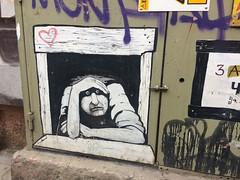 201705 - Balkans - Sad Man Graffiti - 11 of 46 - Sofia - Oborishte - Sofia, May 21, 2017