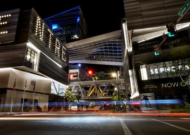 Brickell City Centre at night.