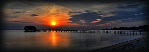 wakebeach sunrise pier chesapeakebay michaeljanidlo
