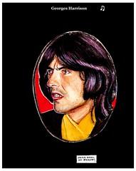 GEORGE HARRISON (Dessin & peinture hyperréaliste... juin 1974)