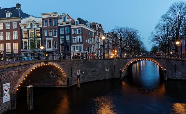Seven Bridges at night, Amsterdam