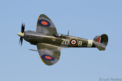 Spitfire IXb MH434 G-ASJV - The Old Flying Machine Company Duxford   by stu norris