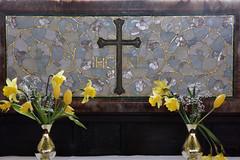 Ratlinghope, Shropshire, St. Margaret's, altar, reredos
