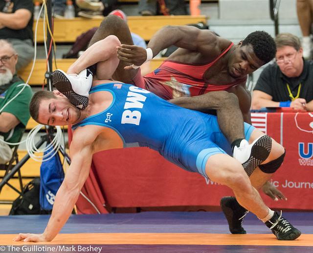 86 kg/189 lbs.- Lou DePrez (BWC) vs. Kordell Norfleet (Sunkist Kids).  - 180519amk0218