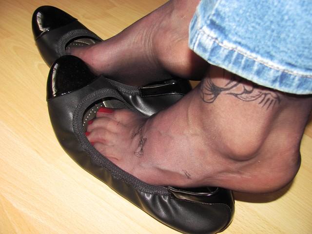 new leather ballerinas