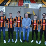 L to R: Darren Wood, Christopher Hay, Cory Ritchie, Charlie Charlesworth (Manager), Alexander Jack & Gary McGowan