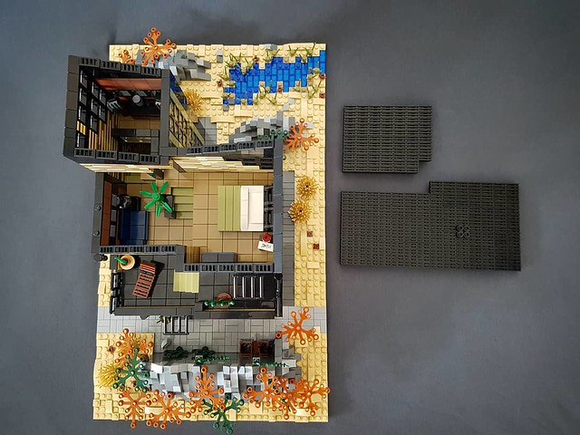 Olive Sand House MOC with roof removed