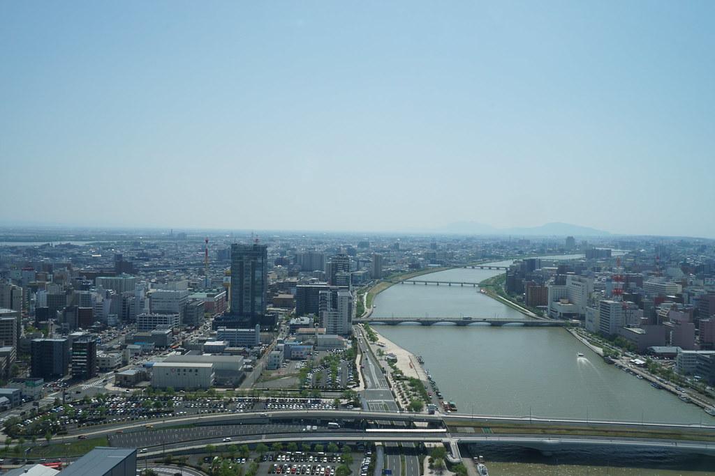 新潟市街俯瞰