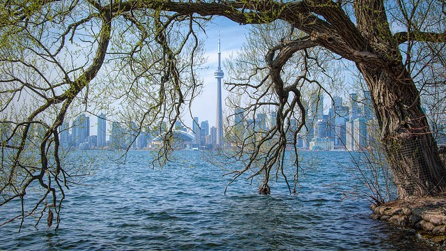 Toronto, A View of the city from Centre Island