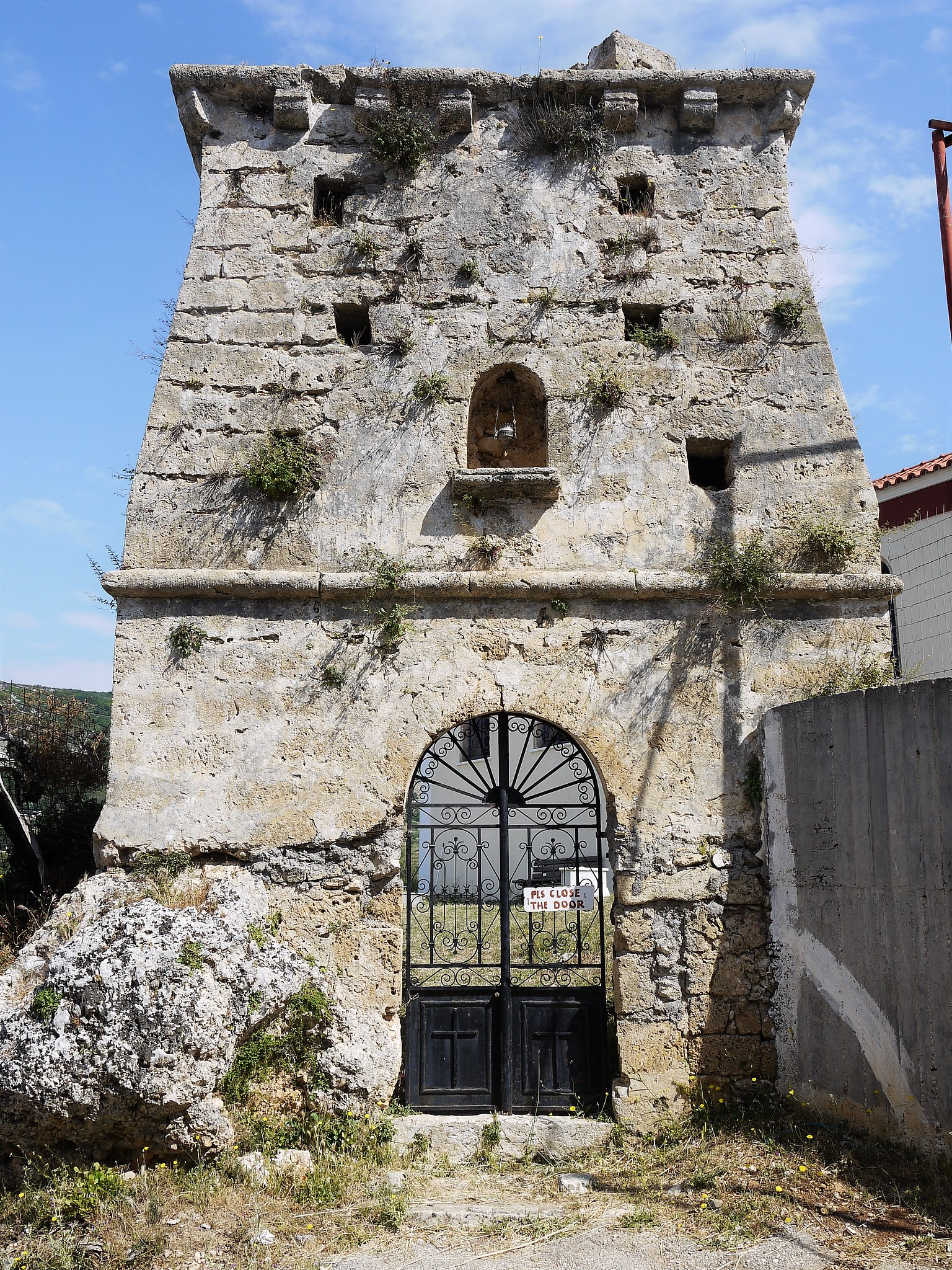 Old Skala Ruins by Church