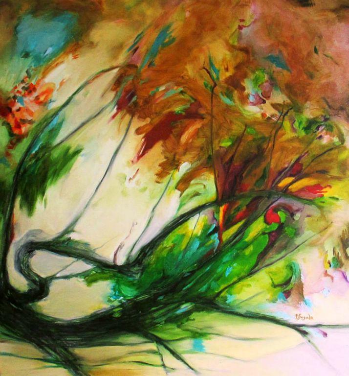 Esordio - 101x94 cm. Oil on canvas 2014