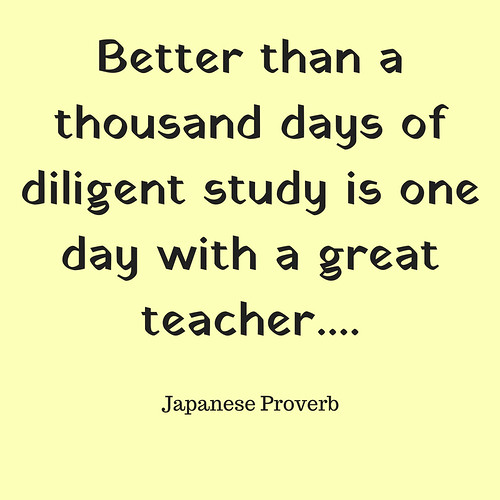 Teacher Appreciation Japanese Proverb