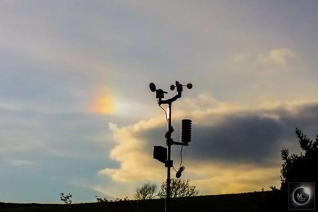 Right Side Parhelion (Sundog) 19:07 BST 30/04/18