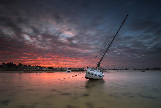 Boat at sundown...