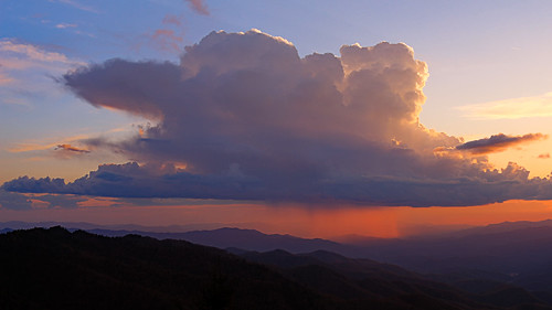 sunset thundercloud blue ridge parkway north carolina waterrock knob landscape