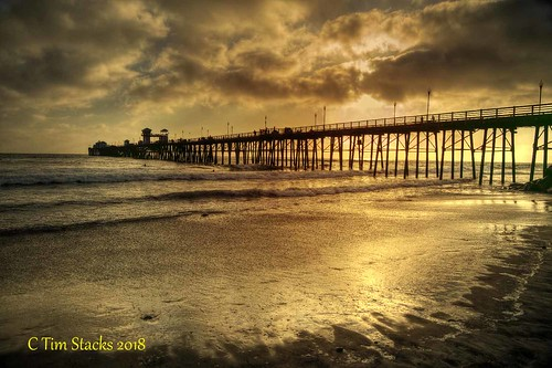 usa california oceanside pacificocean pier landscape sunset outdoors