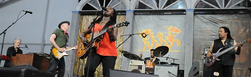 Ruthie Foster in the Blues Tent. Photo by Black Mold.