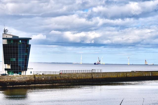 Wind Farm - Aberdeen Harbour Scotland - 24/4/2018
