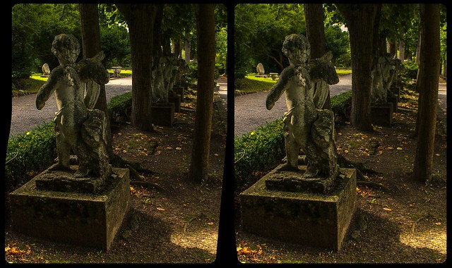 Lithified angel 3-D / CrossView / Stereoscopy / HDRaw