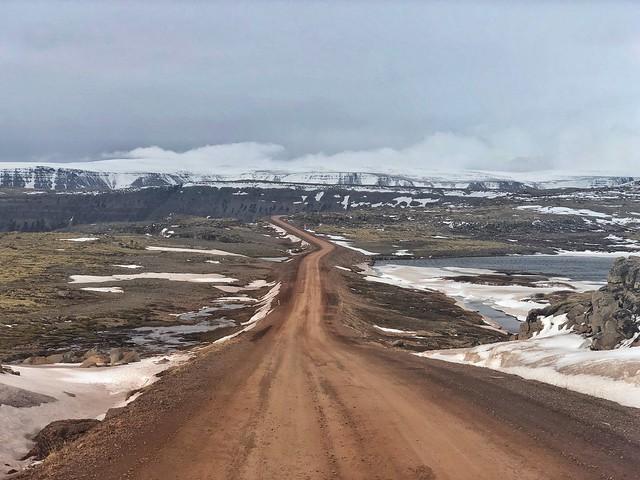Carretera no pavimentada en Islandia