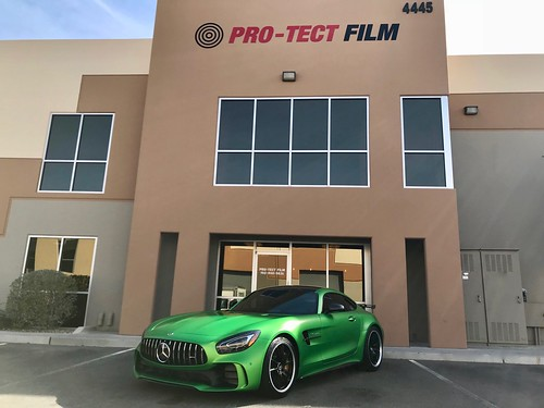 Mercedes AMG GTR Full Stealth Wrap | by Clear Film Protection