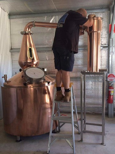 970 litre copper Still with copper insulated barrel, with 6 x electric elements. Installed by Mark @ Capertree NSW. | by burnswelding