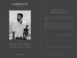 a testimony by Nikos Fragoulis | by Alejandro Calore (REAL&SHORT® owner)