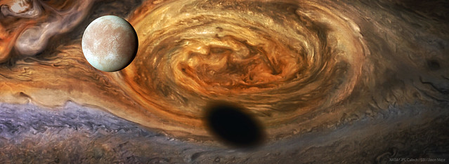Europa and Jupiter's Great Red Spot