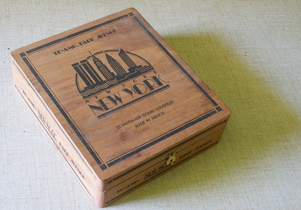 Te Amo Wooden Cigar Box Heres A Vintage Wooden Cigar Box Flickr