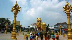 Sihanoukville: Goldener Löwe Denkmal