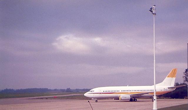Hispania EC-EHZ Boeing 737-3Y0 Teesside Airport MME England UK