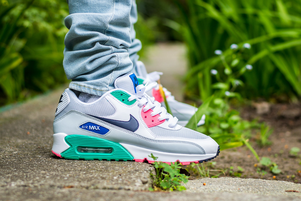 genuine shoes new concept delicate colors Nike Air Max 90 Watermelon On Feet | My review of these: www ...