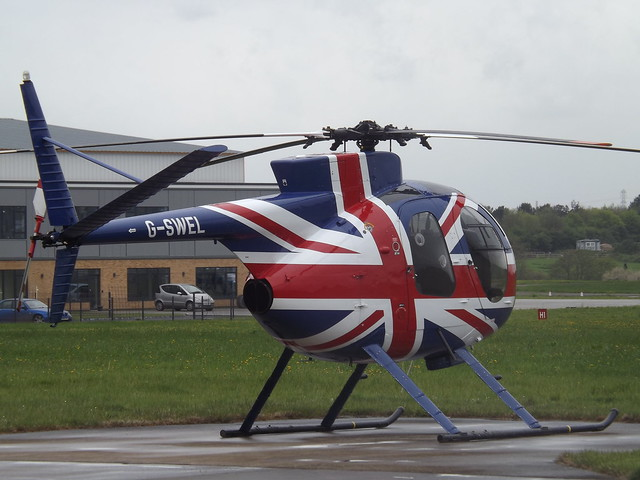 G-SWEL Hughes 369HS MD500 Helicopter Private