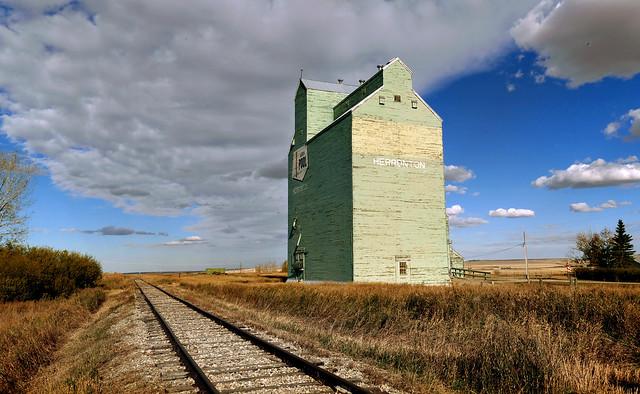 Grain elevator. Herronton Alberta