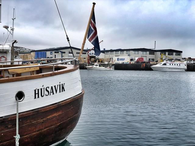 Barco para ver ballenas en Húsavík (Islandia)
