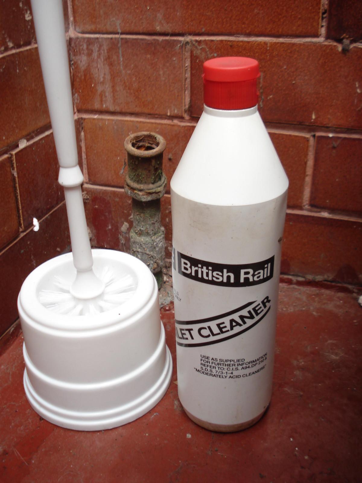 Vintage British Rail toilet cleaner