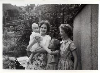 Mum, Steve, Janet, and Aunt Win 1959