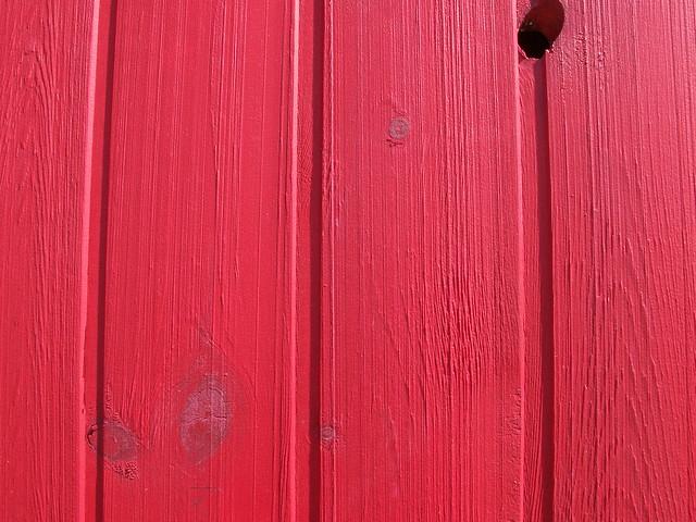 freshly painted barn side