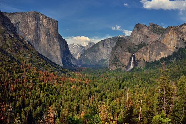 Another Snapshot Photo Opportunity at Tunnel View While Taking in Yosemite Valley