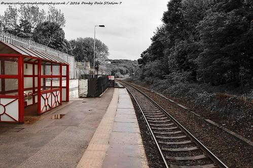 Southwards at Denby Dale Station.