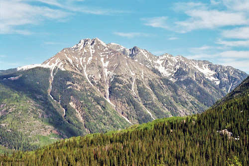 landscape scenery mountains forest trees snow colorado
