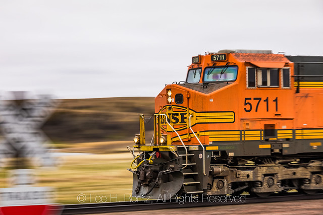 BNSF Coal Train Moving through the Nebraska Sandhills
