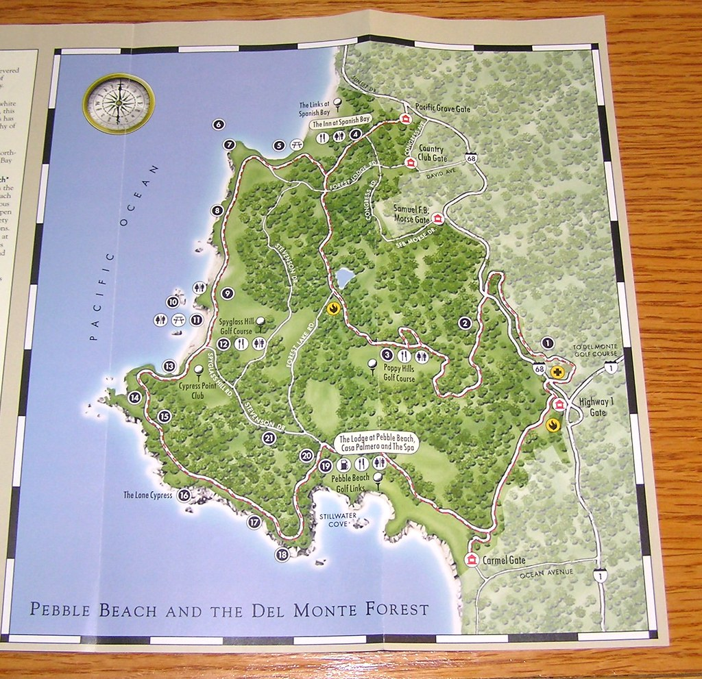 17 Mile Drive Brochure (2) | David Valenzuela | Flickr  Mile Drive Map on