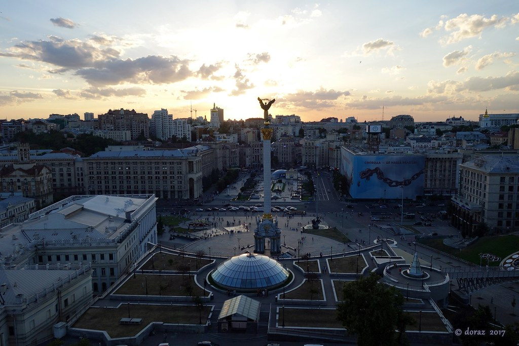 112 Kyiv, Maidan Square view from hotel